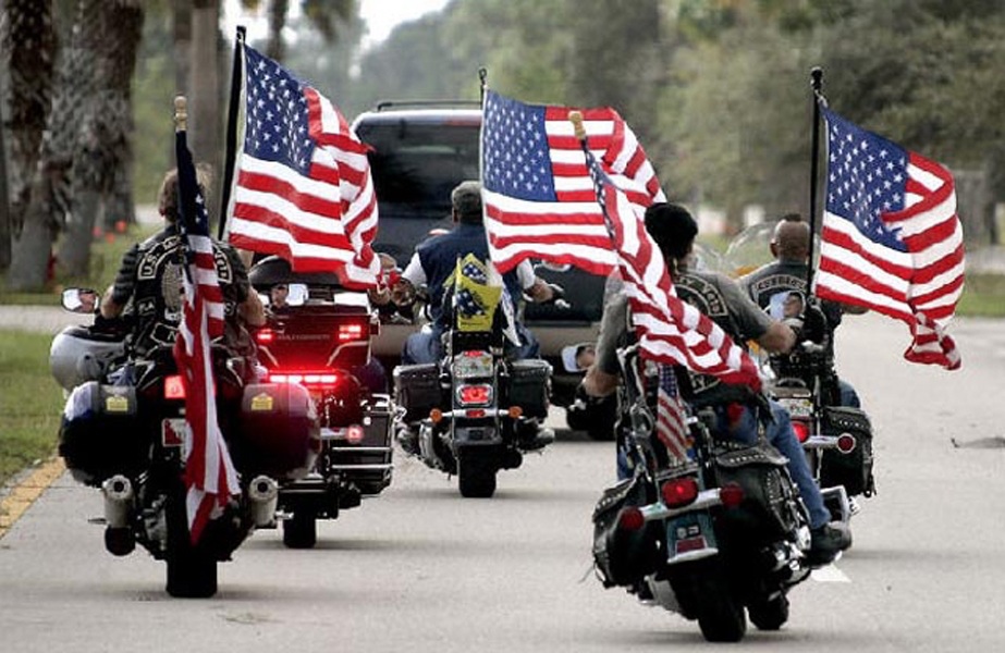 Patriot Guard Riders Escort HBOT Chambers to New Center where Vets Will Heal